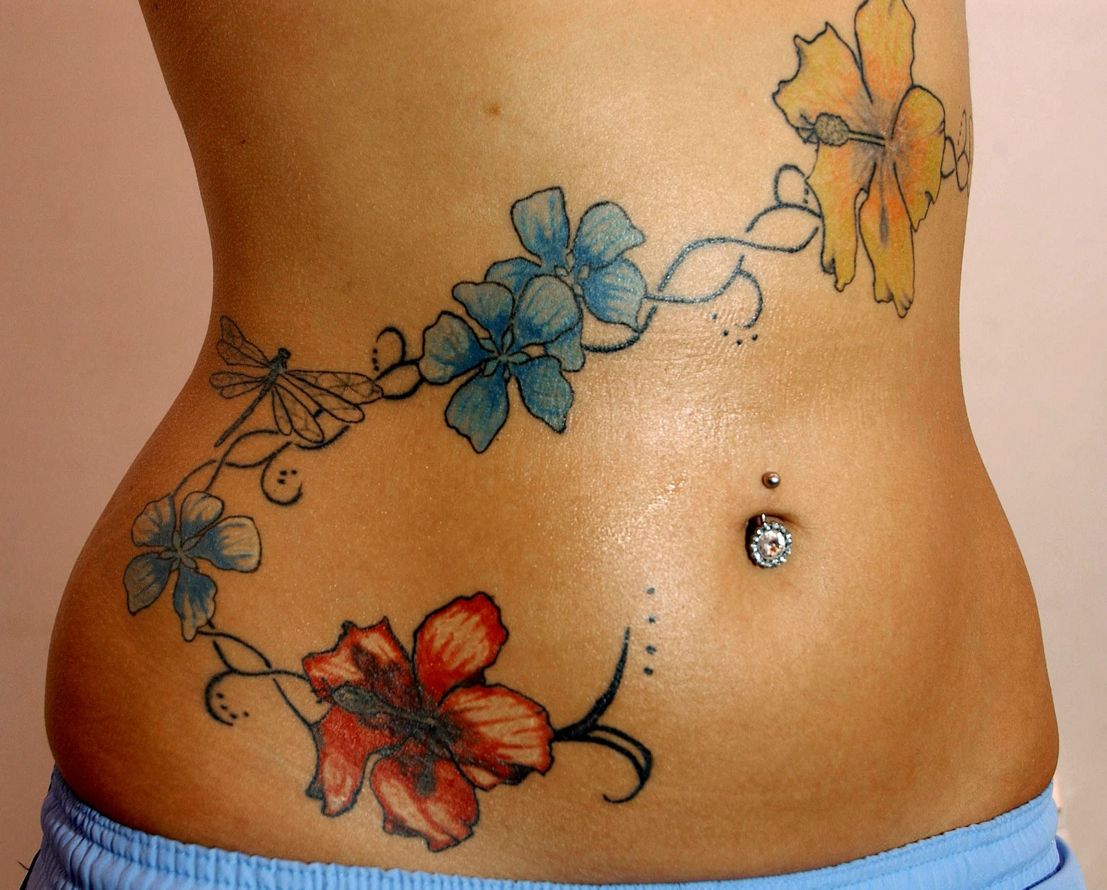 Cute Stomach Tattoos For Girls