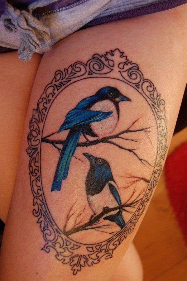 Cute Small Thigh Tattoos For Women