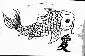 drawing koi fish japanese simple tattoo drawings tattoou paintingvalley tweet
