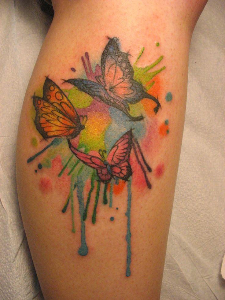 Watercolor Tattoo Mariposas Estilo Acuarelas Tatuajes Para