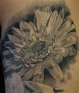 Realistic Daisy Tattoo