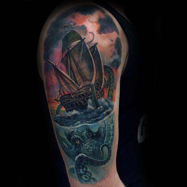 Tattoo Trends 100 Kraken Tattoo Designs For Men Sea Monster Ink