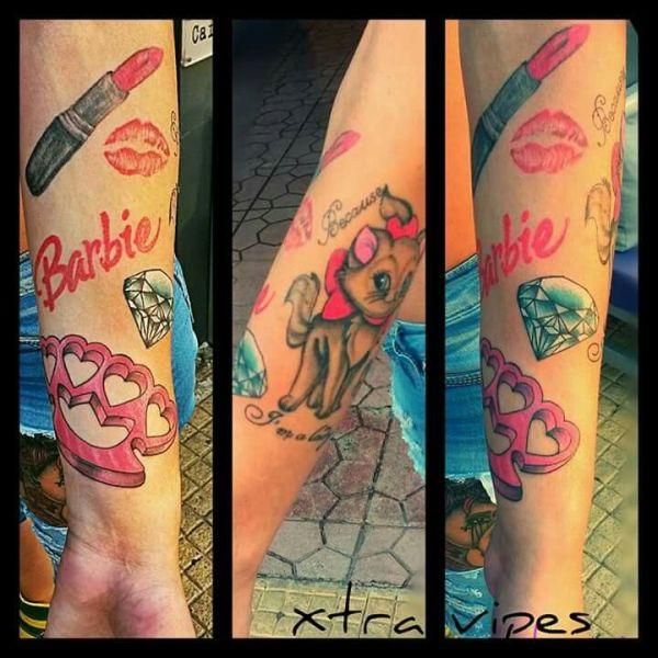Women Tattoo Girly sleeve tattoo TattooViralcom