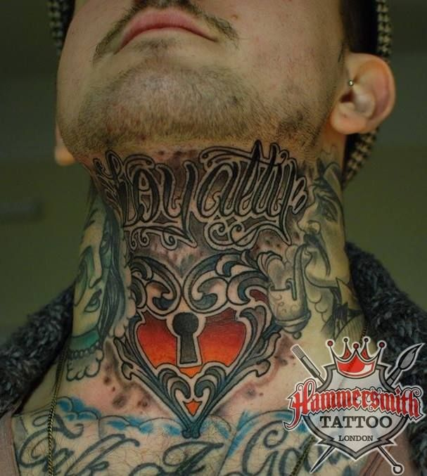 Throat Tattoo Ideas For Men