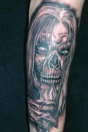 tattoo trends - evil skull tattoos