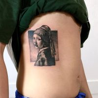 Body - Tattoo's - Girl with a pearl earring tattoo ...