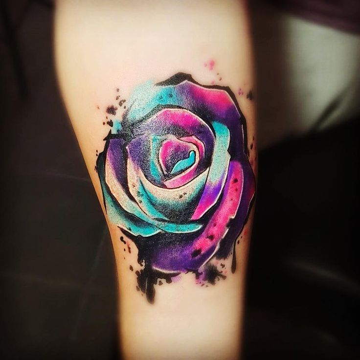 Rainbow Rose Tattoo Designs
