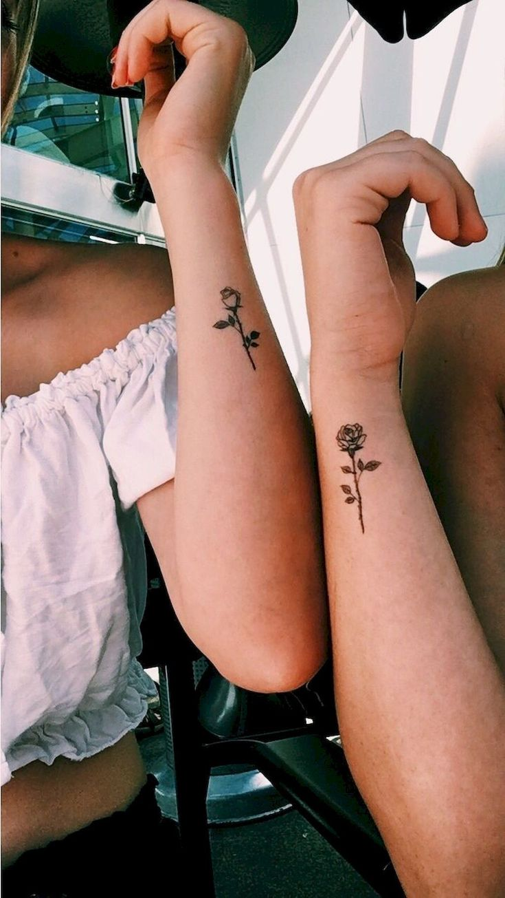 Friend Tattoos Rosas Tatuaje Amigas Hermanas Best Friend Sister