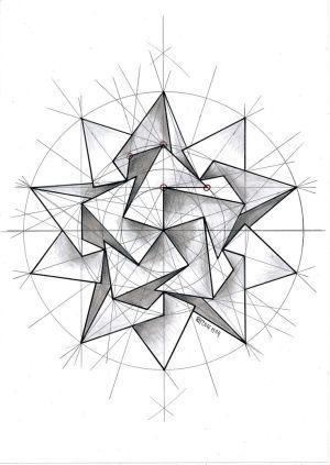 geometry pattern geometric symmetry tattoo solid regolo54 esc polyhedra mathart handmade designs tattooviral