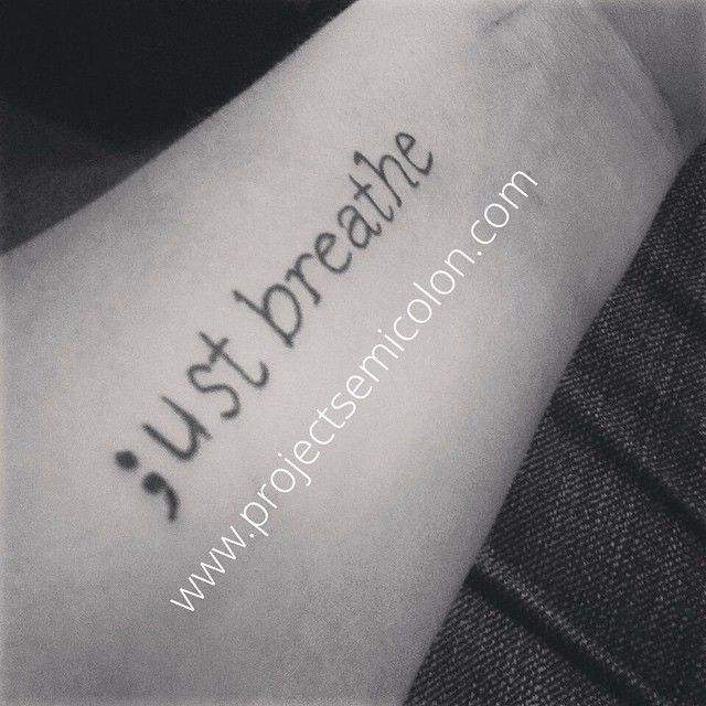 Meaningful Semicolon Tattoos