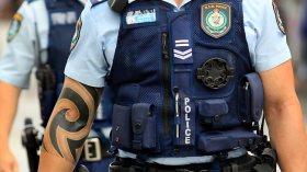 Polica officer tribal tattoo