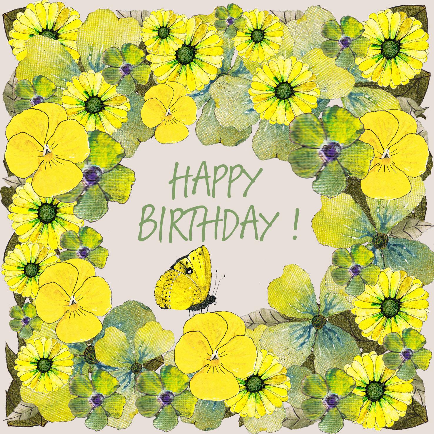 16062 birthday flowers yellow
