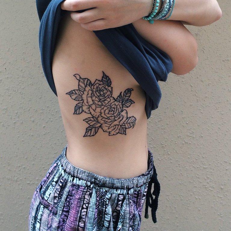 Tatuagens Femininas Na Costela Ate A Coxa