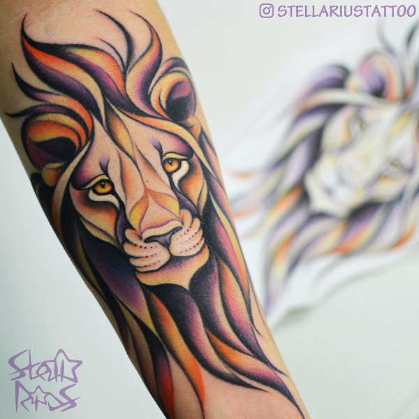 Femminile Tatuaggio Piccolo Leone | TatuaggioNM