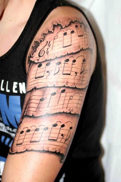 Tatuaggi strumenti musicali significato idee e immagini
