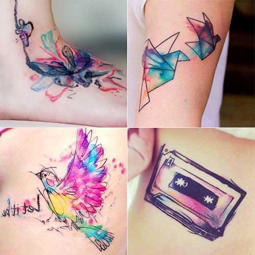 20 Fotos De La Acuarela Tatuajes Tatuajeclubcom