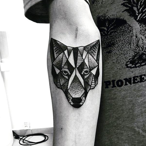 90 Geométrica Del Lobo Diseños De Tatuajes Para Los Hombres Ideas