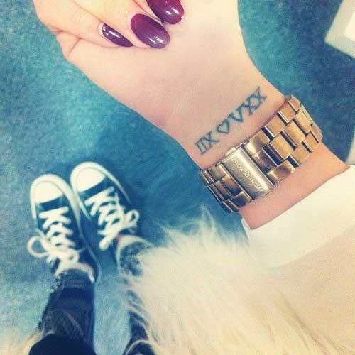 15 Tatuajes Imágenes Números Romanos Lindas Tatuajeclubcom