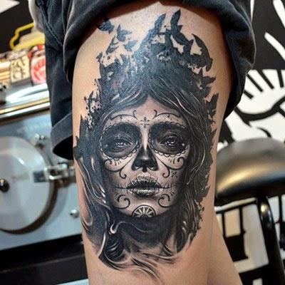 Tatuaje Del Cráneo De México 45 Fotos Significados Dibujos