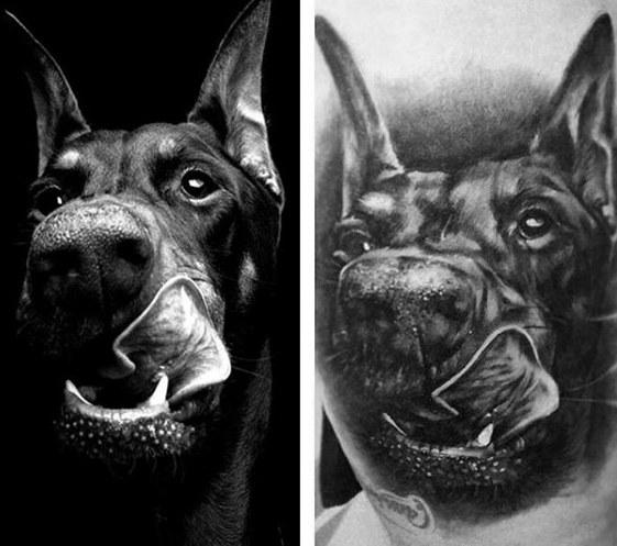 60 Doberman Diseños De Tatuajes Para Hombres Tatuajeclubcom