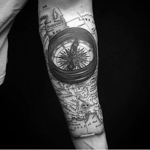 Brújula Diseños De Tatuajes Y Significado Tatuajeclubcom