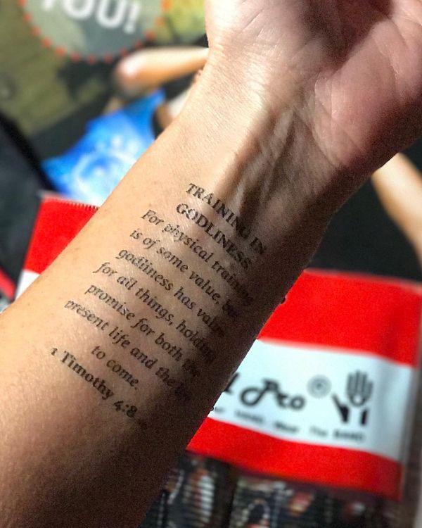 Tatuajes Del Versículo Bíblico Tatuajeclubcom