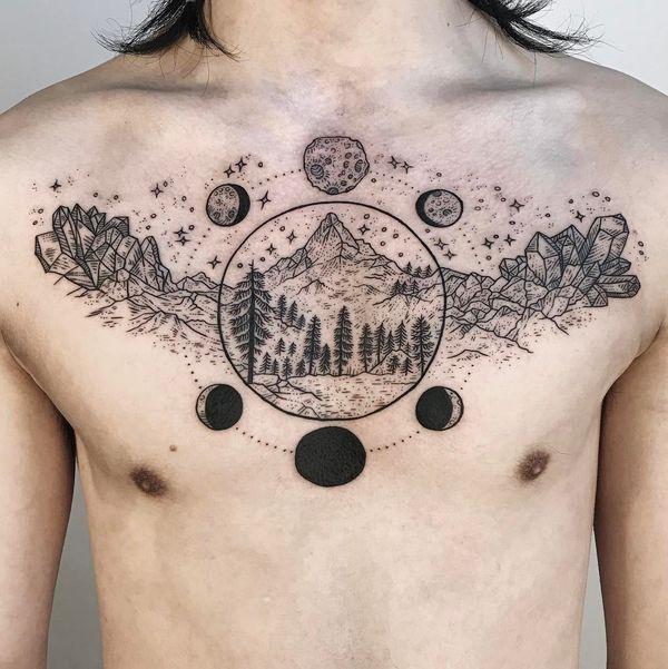 Tatuajes Y Significados Brillantes Del árbol De Pino Tatuajeclubcom