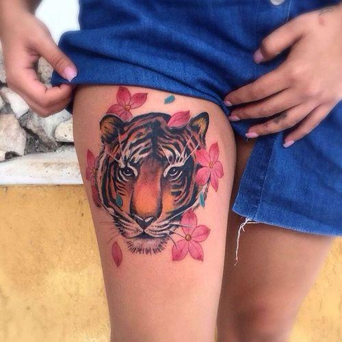 Hermosas Ideas De Tatuaje De Cabeza De Tigre Tatuajeclubcom