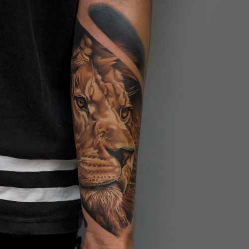 Ideas De Diseño De Tatuajes De Cabeza De León Tatuajeclubcom