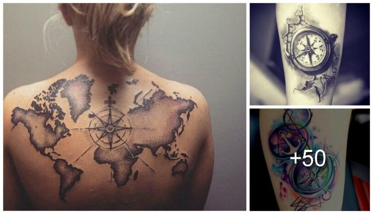 Diseños De Tatuajes De Brújulas Y Sus Significados