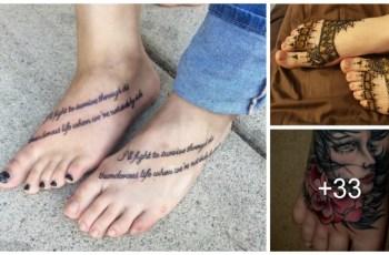 Tatuajes en los Pies para Mujeres y Hombres