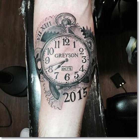 Tatuajes De Relojes De Bolsillo Los Mejores Diseños