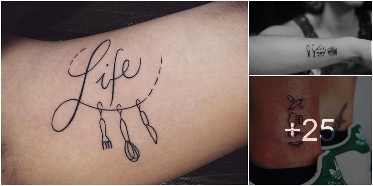 Tatuajes para Chef o Amantes de la Cocina  Tatuajes Para