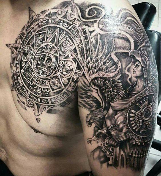 Quetzalcoatl Tattoo Brazo Hairstyle