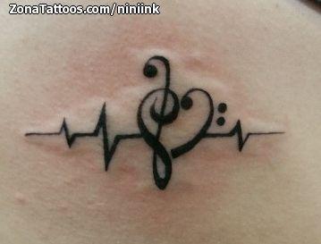 Tatuajes Con Notas Musicales