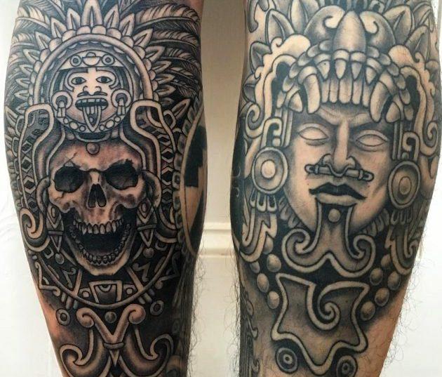 Tatuaje De Sol Azteca Tatuajes Pequeños