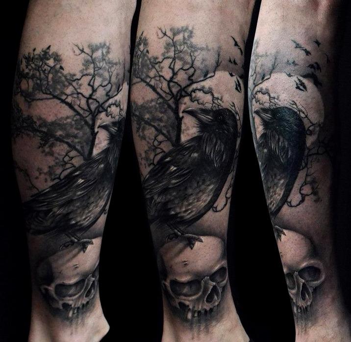 24 Ideas De Tatuajes De Cuervos De Hombremujer Significado