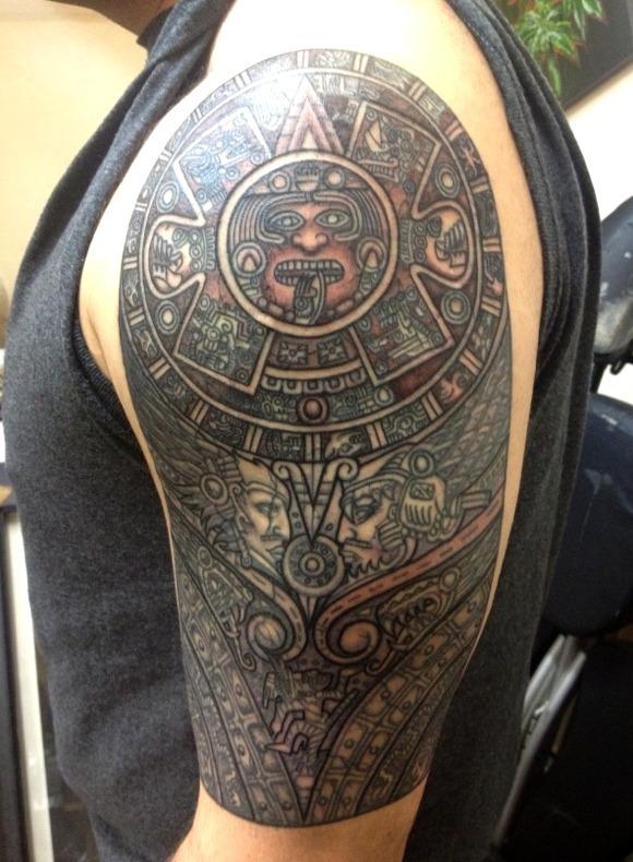 Las 33 Mejores Ideas De Tatuajes Mayas Y Aztecas Hombre Y Mujer