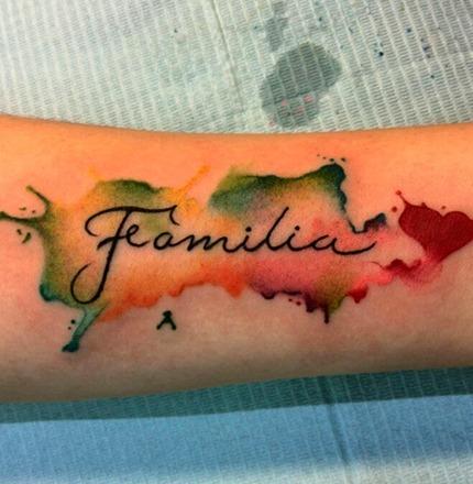 Tattoo Familia Brazo Mujer