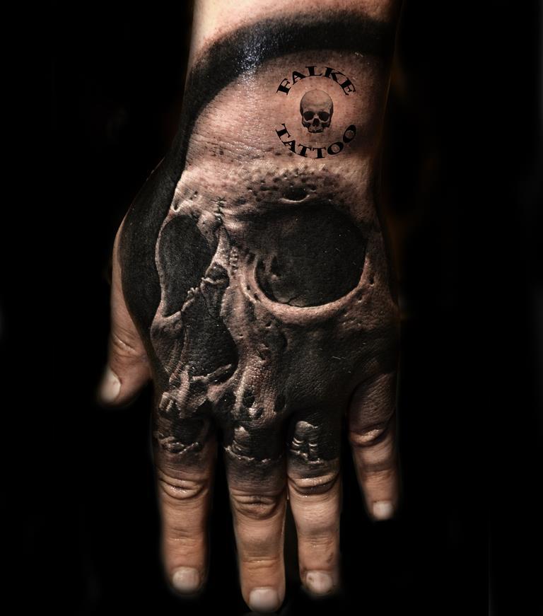 Calavera Mano Marca Tatuajes Online