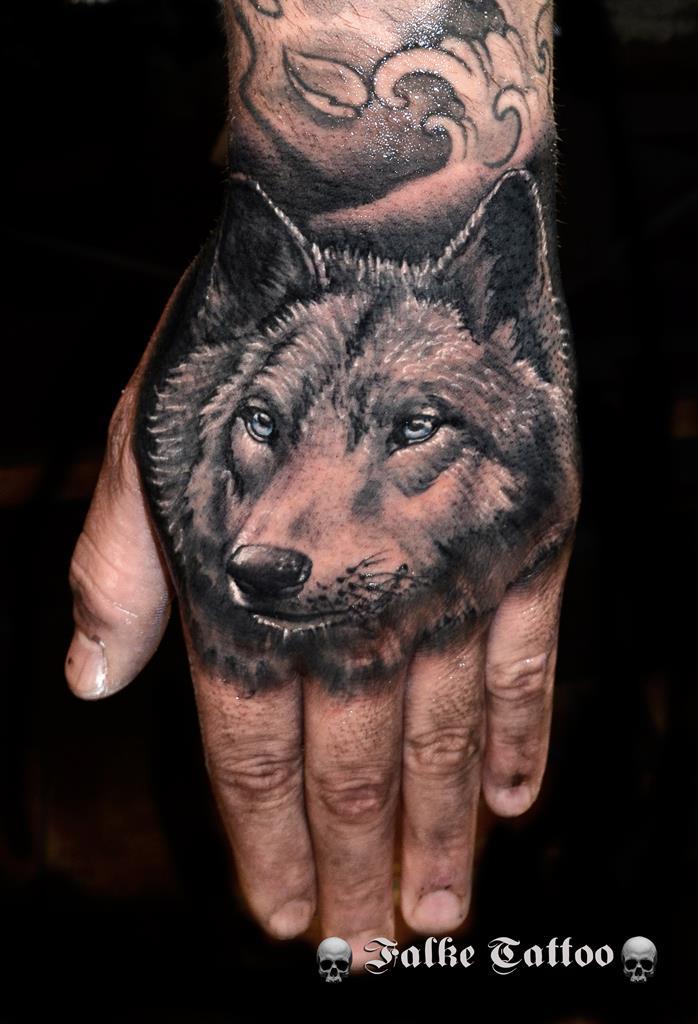 Lobo Mano Marca Tatuajes Online