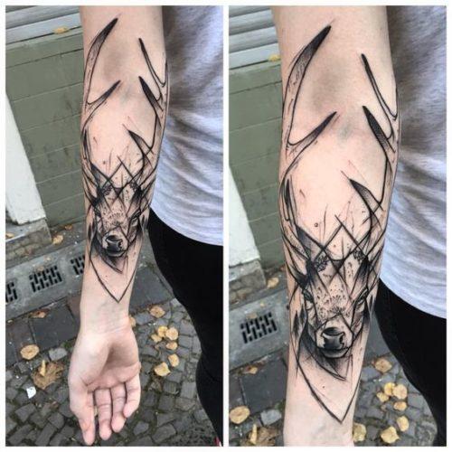 Tatuajes Geometricos Animales Venado