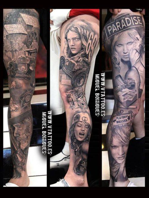 Tatuajes Pierna Completa Hombre Sfb
