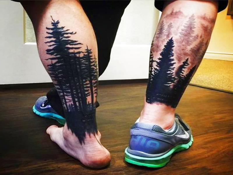 Tattoos De Flores En La Pantorrilla