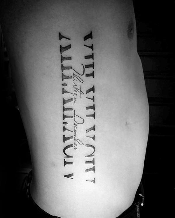 60 Tatuajes De Números Romanos Ideas Diseños Y Significados