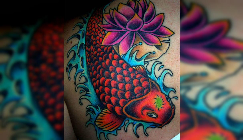 10 Mejores Flores Japonesas Tatuajes Japoneses Del Pez Koi