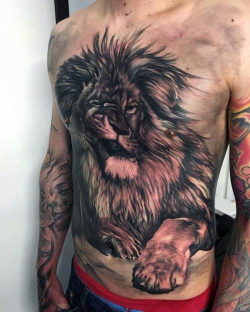 De 120 Fotos De Tatuajes En El Pecho Para Hombres