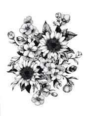 tatuajes de flores para mujeres
