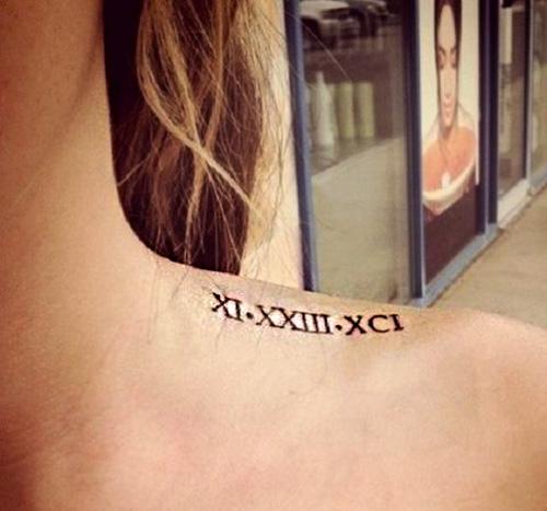 Tatuajes Numeros Romanos Hombro 3 Tatuajes Para Mujeres