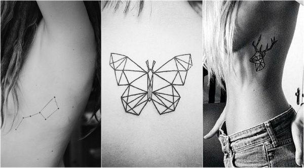 Diseños Espectaculares De Tatuajes Geométricos Para Mujeres